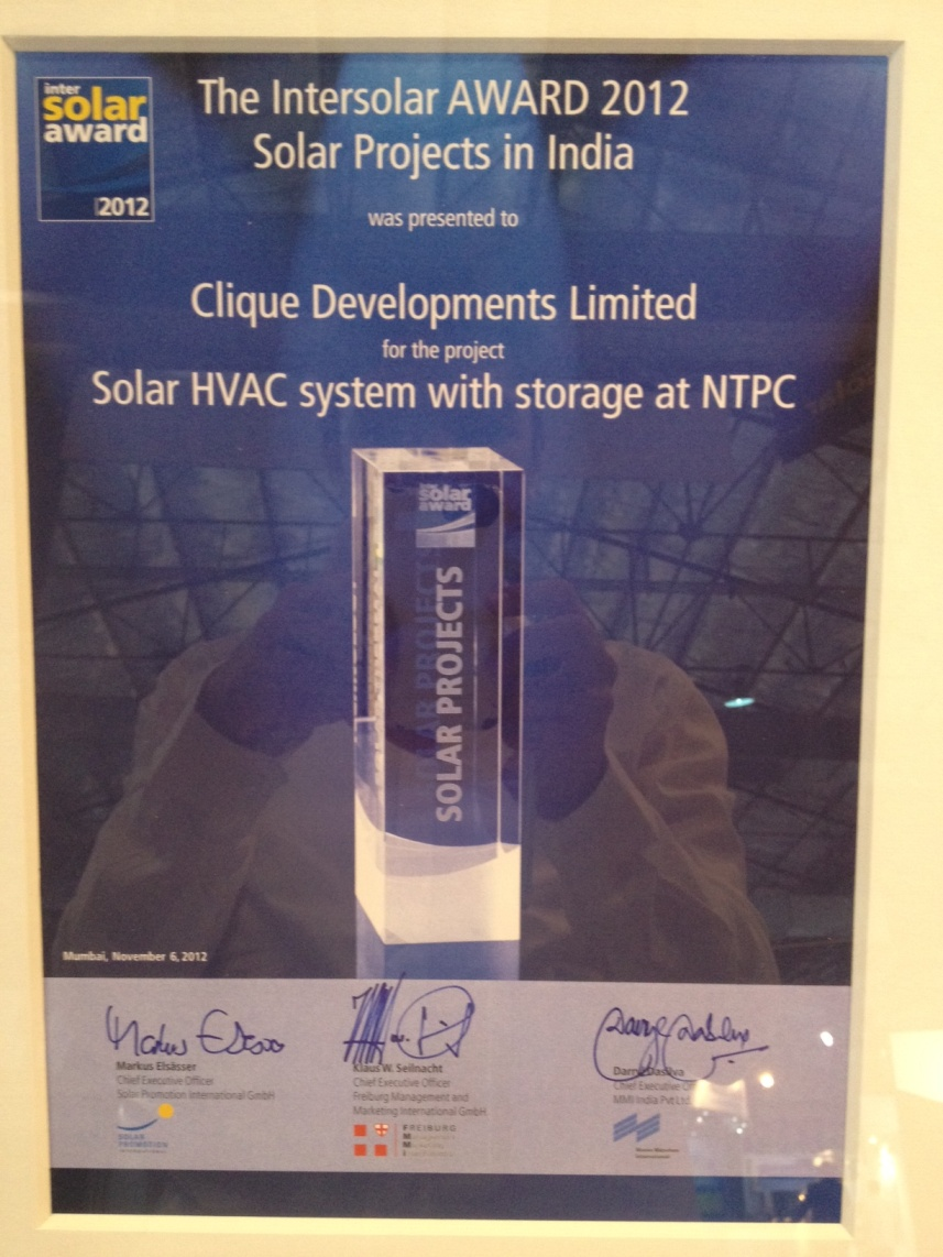 Intersolar BEST PROJECT Award